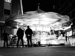 7048 - Carousel (Diego Rosato) Tags: carousel carosello giostra cavallo horse luce light motion mosso street latina piazza popolo people square bianconero blackwhite fuji x30 rawtherapee blur