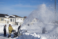 January 17, 2020, snow storm (gwhiteway) Tags: action blizzard blower citylife cleaning clearing engine equipment machine male man nature object outdoors pushing removing season driveway drive street stjohn's newfoundlandandlabrador canada climate environment storm city transportation weather vehicle urban