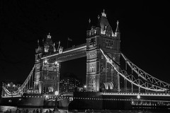 London nights (terry@sevensixty images) Tags: london towerbridge night nightphotography blackandwhite monochrome blackandwhitephotography longexposure riverthames canoneos760d canon24105mmlens