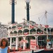 American Queen  - Wellsburg  Ohio - Wharf -  Memories of the Past