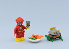 Flash's turtle🐢 1/2 (Alex THELEGOFAN) Tags: lego legography minifigure minifigures minifig minifigurine minifigs minifigurines flash dc comics salad animal turtle speed fast power gray powerful