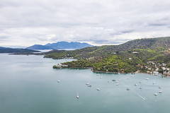 The Bay of Poros (The Hobbit Hole) Tags: boats greece drone aegean saronic magic fromabove droneshots island mavic2pro majic aerial europe poros sea