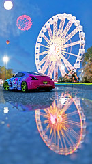 370z 14 (Keischa-Assili) Tags: 4k uhd 1080p full hd fullhd wallpaper screenshot photo auto car automotive automobile virtual digital game gaming graphic edited photography picture videogame forza horizon 4 nissan 370z jdm tuner drift blue pink green