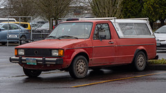 1981 Volkswagen Rabbit Pickup (mlokren) Tags: 2020 car spotting photo photography photos pic picture pics pictures pacific northwest pnw pacnw oregon usa vehicle vehicles vehicular automobile automobiles automotive transportation outdoor outdoors vw 1981 volkswagen rabbit pickup truck orange