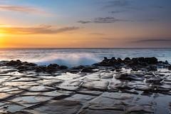Coastal Sunrise Seascape from Rock Platform (Merrillie) Tags: daybreak landscape northavoca nature northavocabeach sky waves sea rocky newsouthwales rocks earlymorning morning coast avocabeach ocean sunrise dawn nsw coastal australia outdoors waterscape seascape centralcoast water clouds