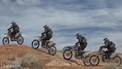 Dirt Bike (magnetic_red) Tags: bike motorcycle dirtbike hill climb multipleexposure sky blue desert logandaletrails nevada offroad blm