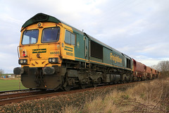 Freightliner 66585 with 6K24 (60044) Tags: inverkeilor scotland flickr photo photography engineering works t3 possession rerail resleeper ballast train trains class 66 network rail