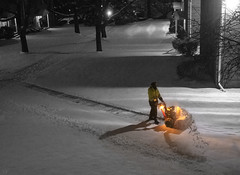 A super's job is never done (Jersey JJ) Tags: super job never done snow blower midnight cutout