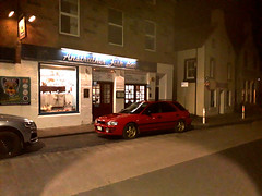anstruther chippy (deeelux) Tags: fish supper anstruther fife red subaru impreza 2000 turbo 555 1997 g1acu