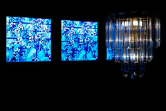 Stained Glass (ak_wink) Tags: lowkey crestline lighting chandelier northviewave proviastd places ohio stainedglass miscstills