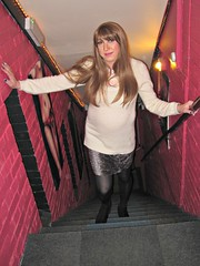 Upstairs with Sarah (Sarah★Jane) Tags: tgirl tg tv transgender lgbt longhair