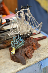 Release the Kraken! (radargeek) Tags: 2019 april norman normanmedievalfaire2019 medievalfair oklahoma glassworks glassmaking kraken octopus squid ship