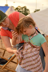Help with her dress (radargeek) Tags: 2019 april norman normanmedievalfaire2019 medievalfair oklahoma child children kid kids