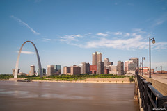 The Gateway Arch, St. Louis Skyline, Missouri, Summer 2019 (fandarwin) Tags: gateway arch old courthouse st louis skyline missouri summer 2019 long exposure nd110 darwin fan fandarwin olympus omd em10