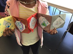 Origami photo frame craft, Tūranga (Christchurch City Libraries) Tags: tūranga origami papercraft