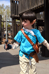 A young Link exploring the playground (radargeek) Tags: 2019 april norman normanmedievalfaire2019 medievalfair oklahoma child children kid kids sword link legendofzelda playground costume hyrule