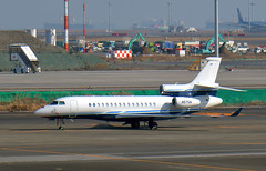 Bank of Utah, N57SN, Dassault Falcon 7X at HND (tokyo70) Tags: japan travel tour tokyo dassault 7x