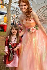 An adventurer and a fairy (radargeek) Tags: 2019 april norman normanmedievalfaire2019 medievalfair oklahoma child children kid kids fairy thesarcasticginger sword redhair costume dress flower