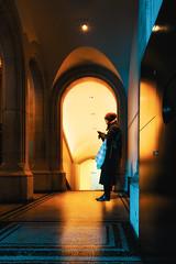Lost in thought (singulartalent) Tags: markhigham london londonunderground longexposure music nationalportraitgallery silhouette slowexposure symmetry thames trafalgarsquare train tube tunnel uk woman