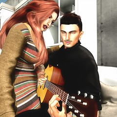 """"""" Music Sounds Better with You """" (maka_orionsl) Tags: avatar avi art artist secondlife sl screenshot snap snapshot game gaming games virtual videogame videogames photography portrait photo picture pose pic posing lyric lyrics contest challenge song songs stardust guitar music"""