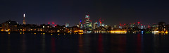 Canary Wharf Night Panoramic (Dan H Boyle Photography) Tags: canarywharf night panoramic canarywharfpanoramic london river riverthames city cityscape cities canon canondslr canon700d 700d skyline nightphotography longexposure londonlandmarks panoramics panorama nighttime