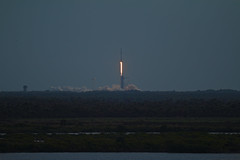 Dragon abort test launch (jjackowski) Tags: dragon titusville falcon9 lc39a spacex maxbrewermemorialparkway shuttlelandingfacility canonef100400mmf4556lisusm rawtherapee