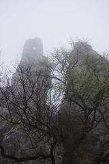 Sirotčí hrádek (Waisenstein) gothic castle ruins (Juhele_CZ) Tags: pavlov moravia czechrepublic walk vineyards wine fog misty nature rocks mountains forest wood meadow