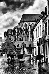 Gent (jo.misere) Tags: gent gand belgie belgium regen rain bw zw