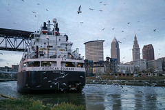American Courage, Bridge 4, Cleveland, OH (kditchman0672) Tags: lake freighter ship boat cuyahoga river cleveland