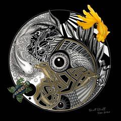 Fish Circle (Scott Elliott Art) Tags: contemporary drawing contenporaryart contemporaryartist fish elliottarts