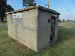 81. The famous tiny Fowler jail, now underneath their watertower, 7-27-19 (leverich1991) Tags: exploring kansas 2019 fowler meade swimming pool jail