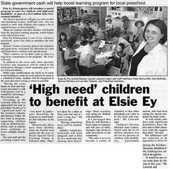 Elsie Ey Kindy - Bunyip 2004 (Gawler History) Tags: gawler history kindergarten elsieey school