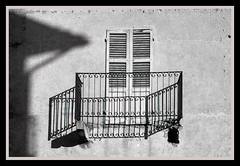 Dangerous balcony (GigiBona) Tags: analogphotography analog abandoned abbandono abandonedplaces analogico balcony bw bwphotography blackandwhitefilm bwfilm classicblackwhite doityourselfbw decay expiredfilm filmphotography film italy italia mediumformat rodinal winter 6x45 zenzabronica zensabronicaetrs 120film zenzanonpe75mmf28 agfapanapx100professional shadows invorio