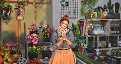 ぬりえちゃんのお花やさん (Renaka3) Tags: secondlife セカンドライフ tram vive merch c genus maitreya treschic