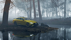 amg gt 63 10 (Keischa-Assili) Tags: 4k uhd 1080p full hd fullhd wallpaper screenshot photo auto car automotive automobile virtual digital game gaming graphic edited photography picture videogame forza horizon 4 yellow black amg gt 63 autumn fog