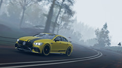 amg gt 63 5 (Keischa-Assili) Tags: 4k uhd 1080p full hd fullhd wallpaper screenshot photo auto car automotive automobile virtual digital game gaming graphic edited photography picture videogame forza horizon 4 yellow black amg gt 63 autumn fog