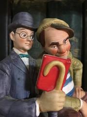 The Interloper (deanrr) Tags: macromondays ceramic january202020utc theinterloper book normanrockwell figurine cane hats reading