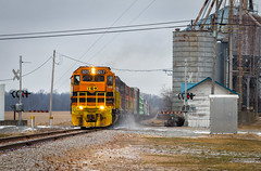IORY 5017 - Rosewood, OH (Carlos Ferran) Tags: emd sd50s gw iory indiana ohio railway train trains cold winter rural rosewood dti lsl lima south local standard cab snow