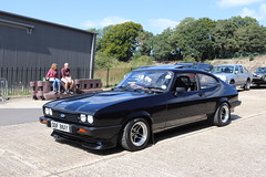 Ford Capri 2.0 S DDF861Y (Andrew 2.8i) Tags: s 20 2000 2000s 20s mk3 mk 3 iii mark liftback hatchback hatch coupe sportscar sports ford capri show uk surrey weybridge track circuit brooklands 50th anniversary ddf861y