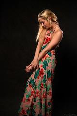 New Edit (Fly Sandman) Tags: model modelshoot woman girl dress blackbackground blonde flash offcameraflash strobe studio affinityphoto godox sony alpha a99