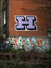 Helch / Phern (Alex Ellison) Tags: helch roller phern h2r southlondon urban graffiti graff boobs trackside railway