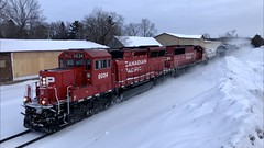 1/19/2020 got CP 5034 leading the CP 493 while standing on top of a snow pile, on the Minnesota Hinckley Subdivision. Video will be uploaded to the Real Railfan YouTube Channel, stay tuned! (realrailfan1) Tags: minnesota canadianpacific cp snowpile 493 hinckleysub hinckleysubdivision cp493 cp5034 minnesotahinckleysub minnesotahinckleysubdivision train