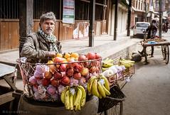 Fruit vendor (Goran Bangkok) Tags: bhaktapur nepal street vendor apples bananas man streetphotography streetphoto
