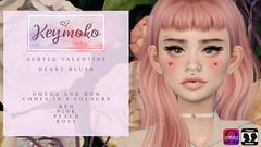 [Keymoko - Subtle Valentine Heart Blush] (Mykie Kiyoko) Tags: secondlife sl 2ndlife slproducts omega bom genus slmakeup