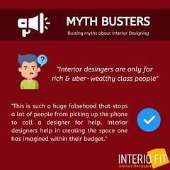MYTH BUSTING (1) (interiofit2019) Tags: mythbustermondays kick those false notions about interior designing with interiofit undoubtedly designer provides your dream space within budget limits they can help saving time money by investing it unnecessarily if youre looking for getting interiors donevisit wwwinteriofitcom monday mythbusters myths truths mindblown mind interiordesign interiordesigner delhincr ncr residential design commercial outdoor restaurant