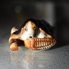 hound 'n boot (ladybugdiscovery) Tags: macromonday macro ceramic boot hound hardlight