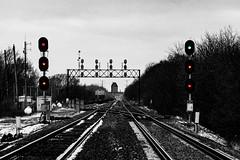 A Decade of Decadence (BravoDelta1999) Tags: unionpacific up railroad chicagoandnorthwestern cnw railway genevasubdivision searchlight signal nq interlocking nelson illinois