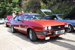 Ford Capri 2.0 S A920ADL (Andrew 2.8i) Tags: s 20 2000 2000s 20s mk3 mk 3 iii mark liftback hatchback hatch coupe sportscar sports ford capri show uk surrey weybridge track circuit brooklands 50th anniversary a920adl