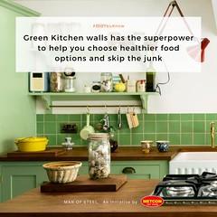 Green Kitchen Walls (santogoerge.g) Tags: manofsteel greenkitchen kitchen greenkitchenwalls kitchenwalls walls health healthierfood food junkfood foodoptions
