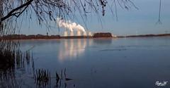 Kraftwerk Jänschwalde (gabimartina) Tags: landschaft natur landscape brandenburg see wasser spiegelung wasserspiegelung sonne himmel
